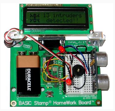 build and test the alarm learn parallax com