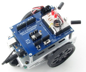 ir remote controlled shield bot project learn parallax com
