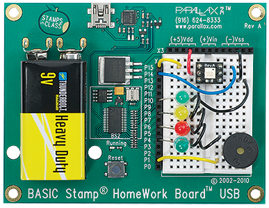 parallax homework board usb