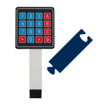4x4 Keypad with 7-Segment LED