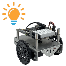 Visible Light Navigation for the cyber:bot