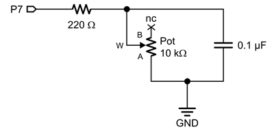 Potentiometer Circuit Schematic potentimeter position learn parallax com potentiometer wiring schematic at fashall.co