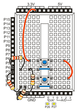 Propeller Activity Board with pushbutton circuit.