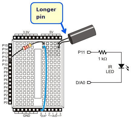 ir beacon seeking activitybot with blocklyprop learn parallax combuild the circuit shown here