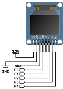 Schematic for the OLED sensor circuit.