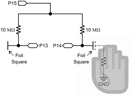 Schematic for the foil sensor circuits.