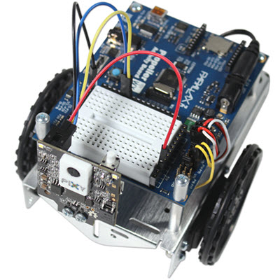 Pixy2 CMUcam module mounted on an ActivityBot 360° robot