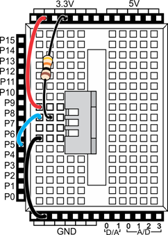 Schematic for wiring the 28059 Temperature and Humidity Sensor.