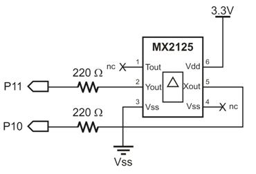 memsic 2125 wiring  u0026 example code