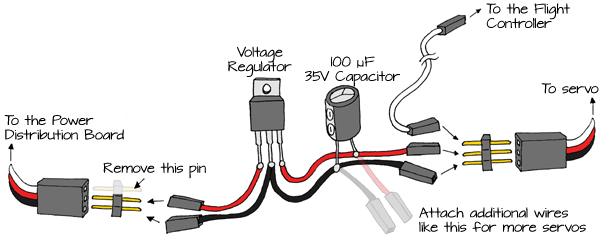 build a servo power supply learn parallax