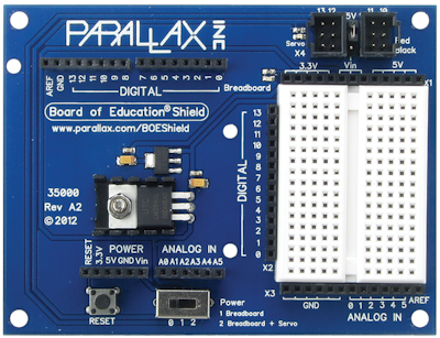 Parallax Board of Education Shield for Ardiuno