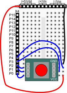 5-Position Switch wiring diagram for BASIC Stamp HomeWork Board