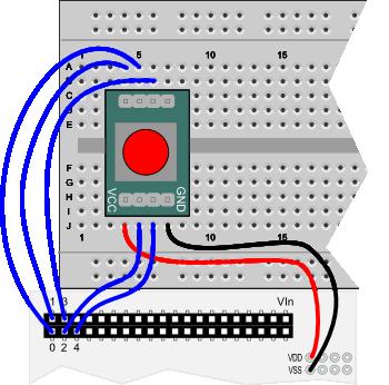 5-Position Switch wiring diagram for Propeller QuickStart board