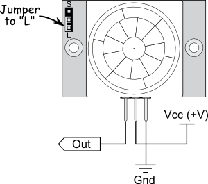 PIR Sensor wiring diagram