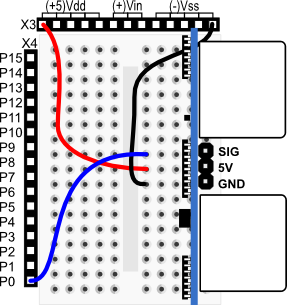 PING))) sensor wiring diagram for BASIC Stamp HomeWork Board