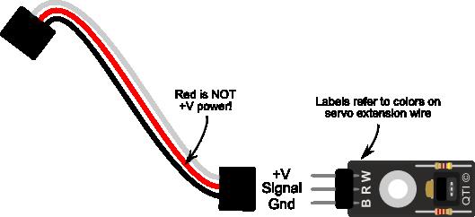 QTI Sensor Wiring Color Coding