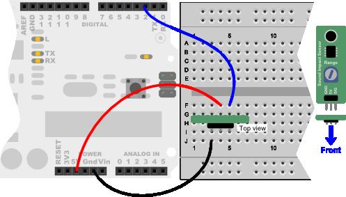 Sound Impact Sensor wiring diagram for Arduino Uno