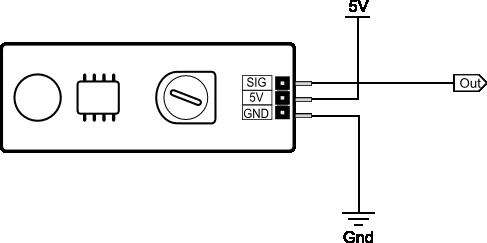 Sound Impact Sensor wiring diagram
