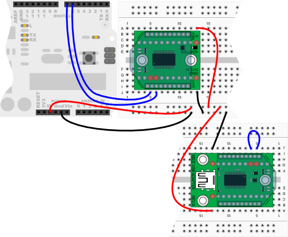 XBee wiring diagram for Arduino Uno