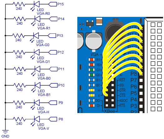 individual vs group i o operations learn parallax com parallel led circuit schematic and wiring diagram on the propeller board of education