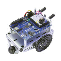 The ActivityBot 360° Robot with IR Obstacle Detection Circuitry built onto the breadboard.