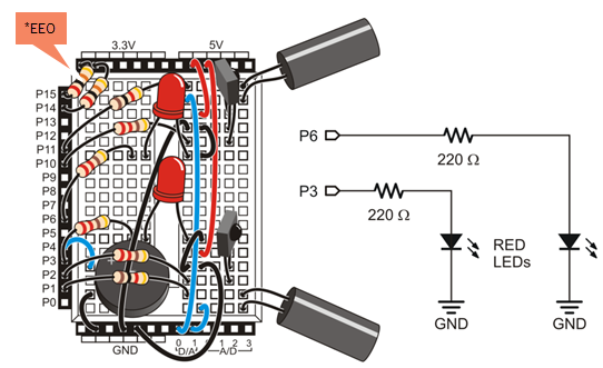 Try This activity wiring for IR Navigation with LED feedback.