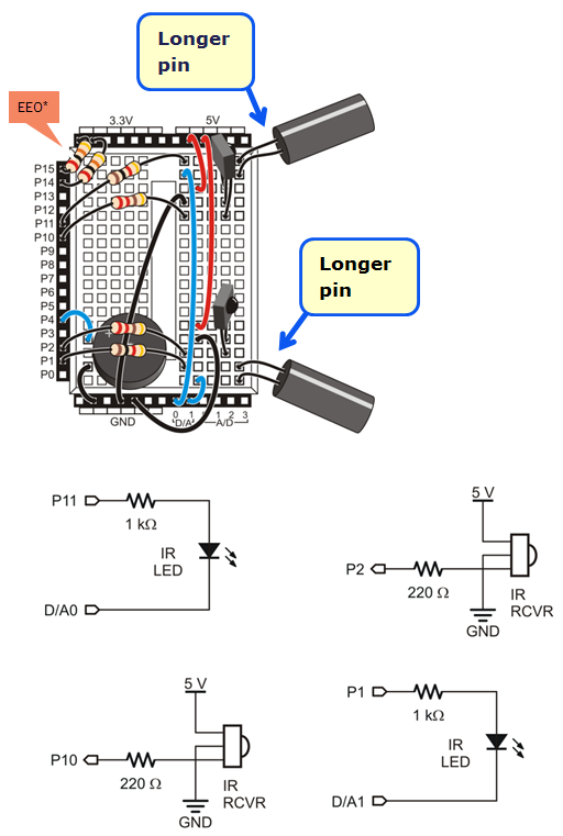 IR wiring build the ir sensor circuits learn parallax com ir receiver wiring diagram at fashall.co