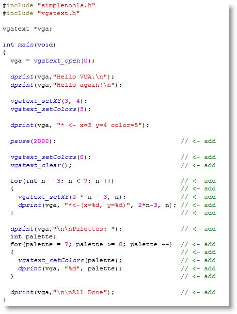 VGA Text Display   LEARN PARALLAX COM