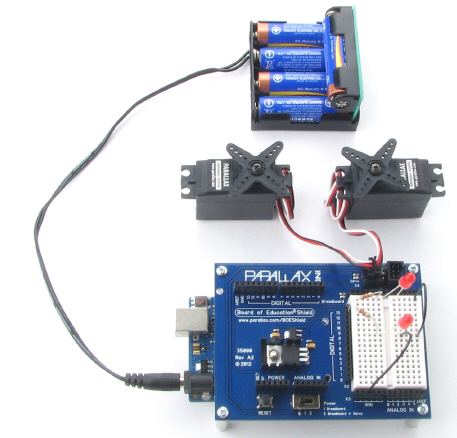 4-cell battery pack setup with Boe-Boost assembled and connected