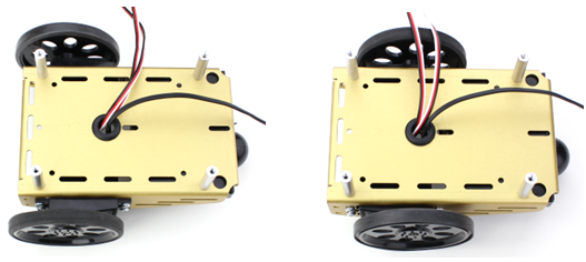 Assembled BOE robot chassis with two servo position options