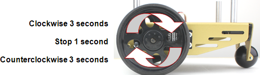 Testing the servo control for the BOE Shield-Bot's left drive wheel