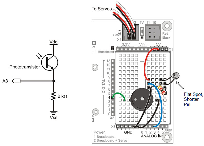activity 1 simple light to voltage sensor learn parallax