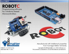 "The ROBOTC for Arduino ""About"" screen"