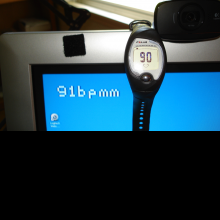 Heart rate monitor output compared with Polar wrist monitor.