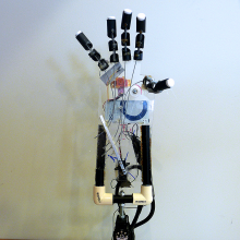 Arduino controlled prosthetic hand.