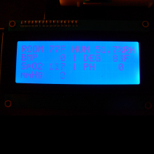 Shows the result of all sensors on the LCD2004.