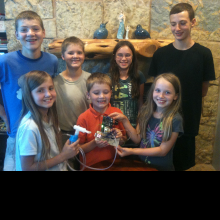 Eagle Mountain Homeschool Co-op Team with the final project.