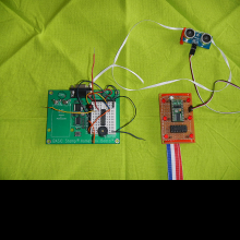 Breadboard and circuit view.