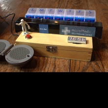The completed P.I.L. Box (Propeller Based Internet Logging) project.