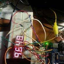 P.I.L. circuit breadboard.