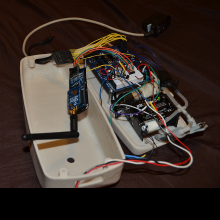 Another view of the internal circuit and wiring of the Triabot.